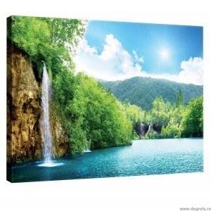 Tablou Canvas Cascada langa lac L