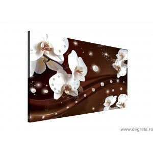 Tablou Canvas Abstractie Orhidee 1 3D L