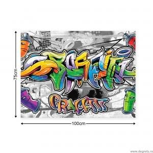 Tablou Canvas Graffiti L