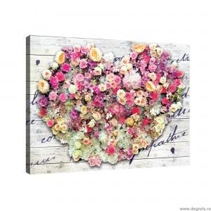 Tablou Canvas Dragoste - Flori 1