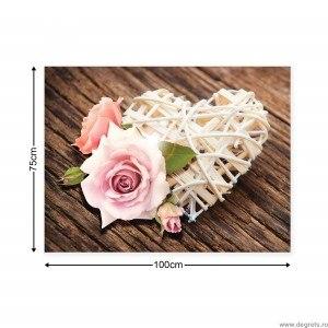Tablou Canvas Dragoste - Flori 2 L