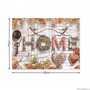 Tablou Canvas Casa comoda bej L