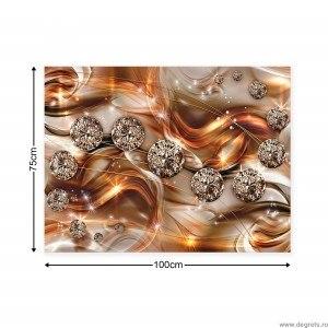 Tablou Canvas Diamant portocaliu 3D