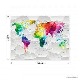 Tablou Canvas Harta lumii 3D