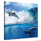 Tablou Canvas Delfini in mare