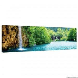 Tablou Canvas Cascada langa lac XL