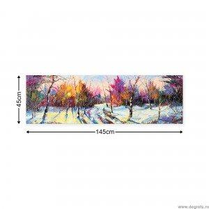 Tablou Canvas Iarna - peisaj padure XL