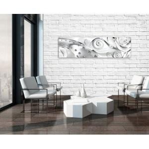 Tablou Canvas Diamant Floral Alb 3D XL