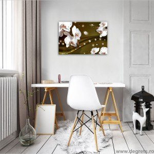 Tablou Canvas Orhidee Abstractie 4 3D S