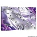 Tablou Canvas Diamant floral mov 3D S