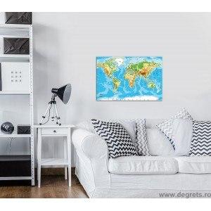 Tablou Canvas Harta lumii 1