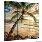 Set Tablou Canvas 3 piese Apus in Bahamas
