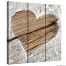 Set Tablou Canvas 3 piese Dragoste - Inima 1