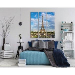 Set Tablou Canvas 3 piese Trunul Eiffel 2