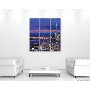 Set Tablou Canvas 3 piese Megapolis San Francisco