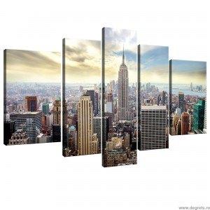 Set Tablou Canvas 5 piese New York 1