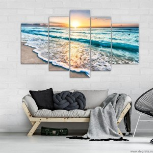 Set Tablou Canvas 5 piese Plaja 1