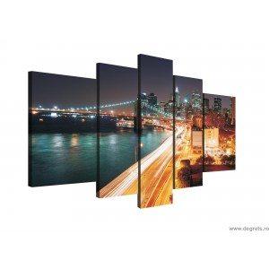 Set Tablou Canvas 5 piese New York - zgarie nori