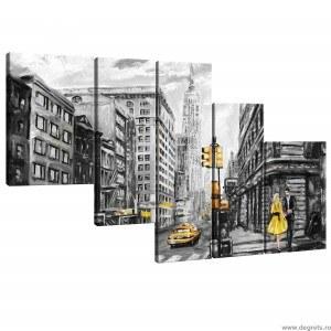 Set Tablou Canvas 5 piese New York Arta