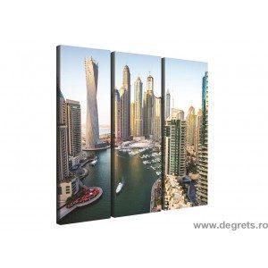 Set Tablou Canvas 3 piese Dubai Marina