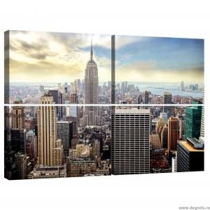 Set Tablou Canvas 4 piese New York 1