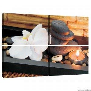 Set Tablou Canvas 4 piese Zen
