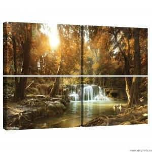 Set Tablou Canvas 4 piese Pace de padure 1