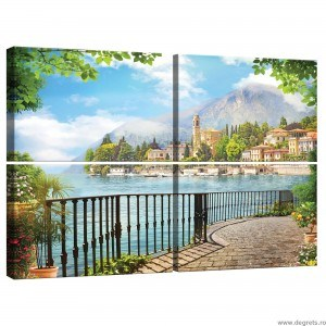 Set Tablou Canvas 4 piese Vedere Panoramica 2 3D