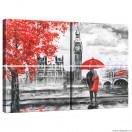 Set Tablou Canvas 4 piese Londra Arta