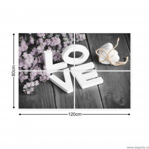 Set Tablou Canvas 4 piese Dragoste 1