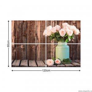 Set Tablou Canvas 4 piese Trandafir - décor