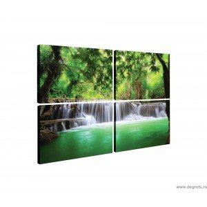 Set Tablou Canvas 4 piese Cascada in Tailanda