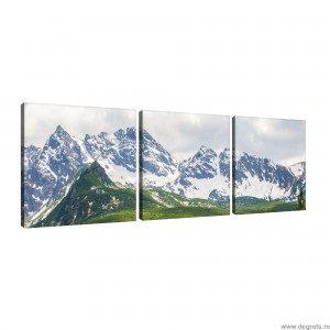 Set Tablou Canvas 3 piese Alpi