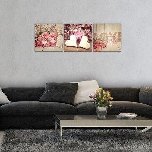 Set Tablou Canvas 3 piese Dragoste arta
