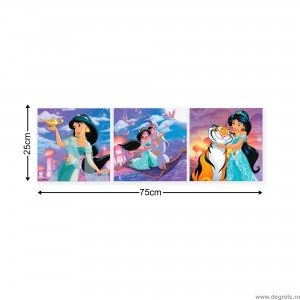 Set Tablou Canvas 3 piese Aladdin si Jasmine