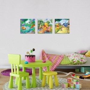 Set Tablou Canvas 3 piese Disney Winnie the Pooh 1