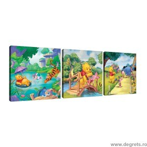 Set Tablou Canvas 3 piese Disney Winnie the Pooh 1