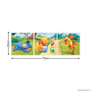 Set Tablou Canvas 3 piese Disney Winnie the Pooh 2
