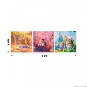 Set Tablou Canvas 3 piese Rapunzel 2