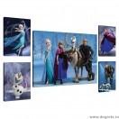 Set Tablou Canvas 5 piese Frozen 8