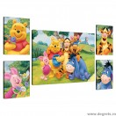 Set Tablou Canvas 5 piese Disney Winnie the Pooh 3