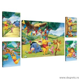 Set Tablou Canvas 5 piese Disney Winnie the Pooh 4