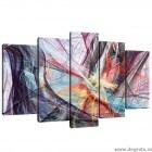 Set Tablou Canvas 5 piese Abstractie 1 3D