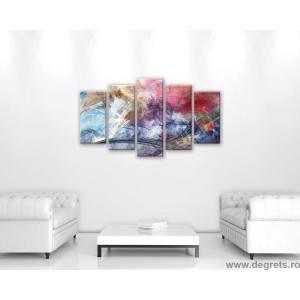 Set Tablou Canvas 5 piese Abstractie 6 3D