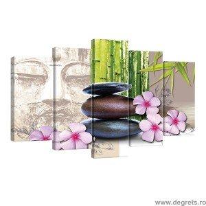 Set Tablou Canvas 5 piese Pietre zen 2