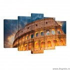 Set Tablou Canvas 5 piese Coloseum Roma