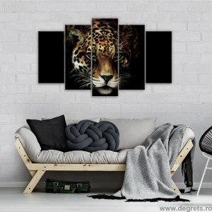 Set Tablou Canvas 5 piese Jaguar
