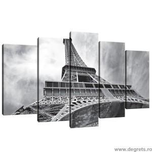 Set Tablou Canvas 5 piese Trunul Eiffel 4