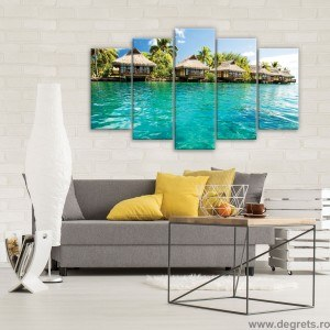 Set Tablou Canvas 5 piese Caraibe
