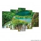 Set Tablou Canvas 5 piese Cascada in jungla